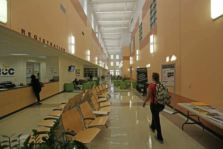 An interior view of the Houston Community College Wednesday, Feb. 17, 2016, in Missouri City. HCC is selling this Sienna Plantation campus and opening a new one on Texas Parkway. ( Steve Gonzales  / Houston Chronicle  )
