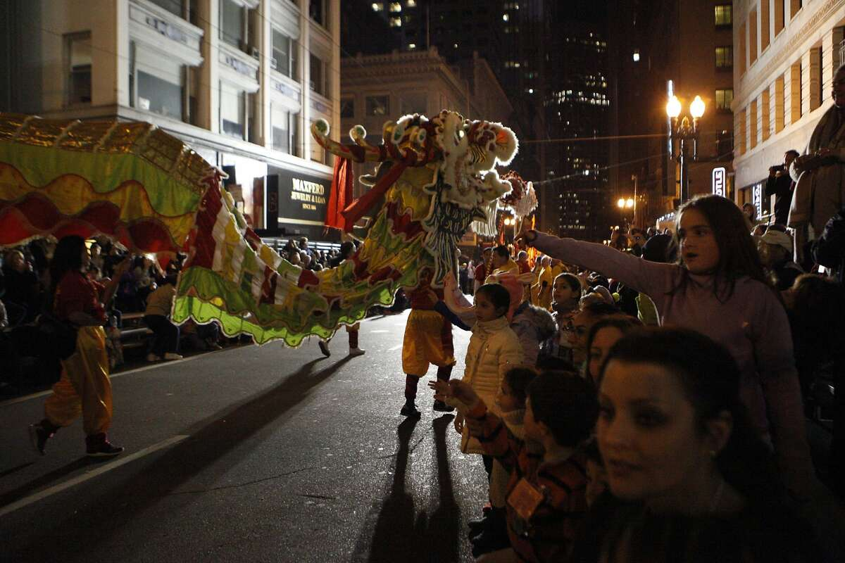 Chinese dragons parade through the streets during the annual Chinese New Year Parade in San Francisco on Feb. 20, 2016