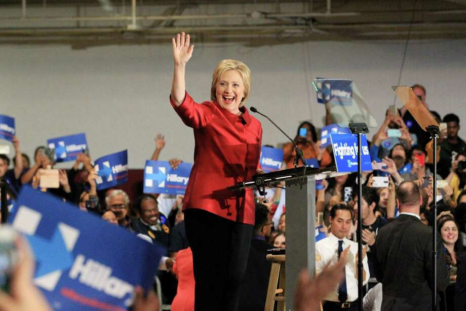 Hillary Clinton greets supporters during a campaign event at Texas Southern University Saturday, Feb. 20, 2016, in Houston. Photo: Jon Shapley, Houston Chronicle / © 2015  Houston Chronicle