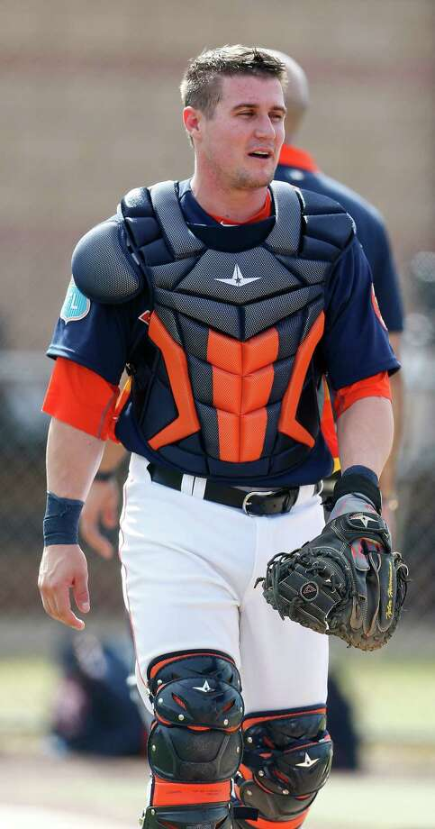 Houston Astros catcher Tyler Heineman during spring training in Kissimmee, Florida, Sunday, Feb. 21, 2016. Photo: Karen Warren, Houston Chronicle / © 2015  Houston Chronicle