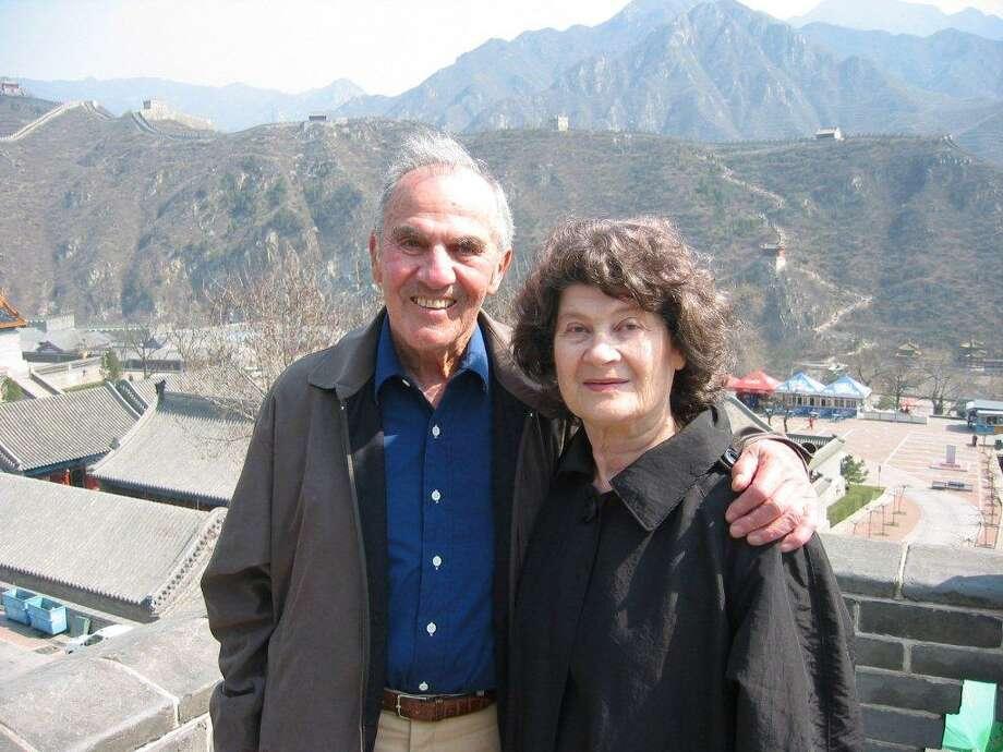 Si and Dorothy Liberman at the Great Wall of China. Photo: /Courtesy Photo