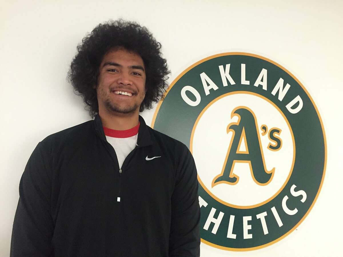 """Sean Manaea, the A's top prospect, is of Samoan descent and calls his hairstyle a """"Samo-fro."""""""