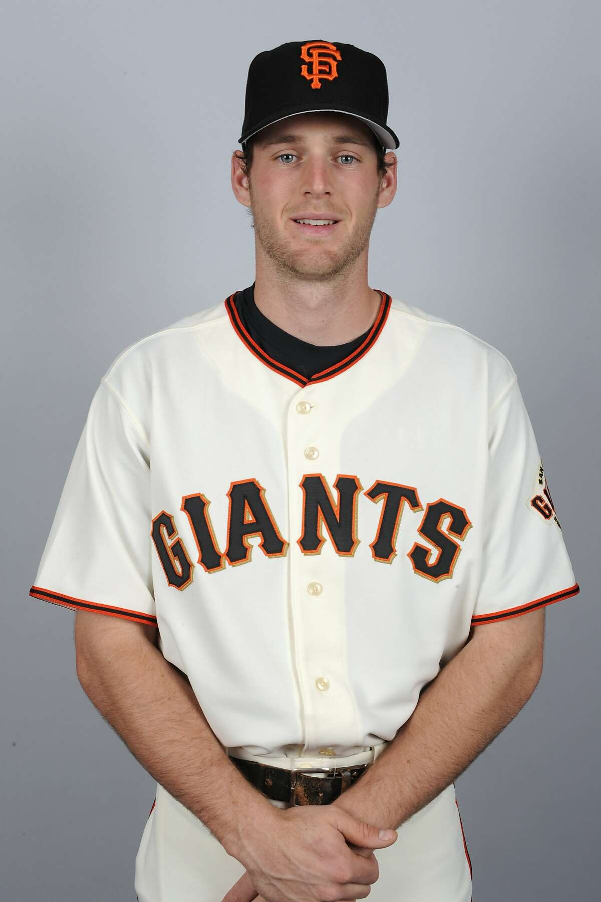 SCOTTSDALE, AZ - MARCH 1: Conor Gillaspie #50 of the San Francisco Giants poses during Photo Day on Thursday, March 1, 2012 at Scottsdale Stadium in Scottsdale, Arizona. (Photo by Ron Vesely/MLB Photos via Getty Images) *** Local Caption *** Conor Gillaspie
