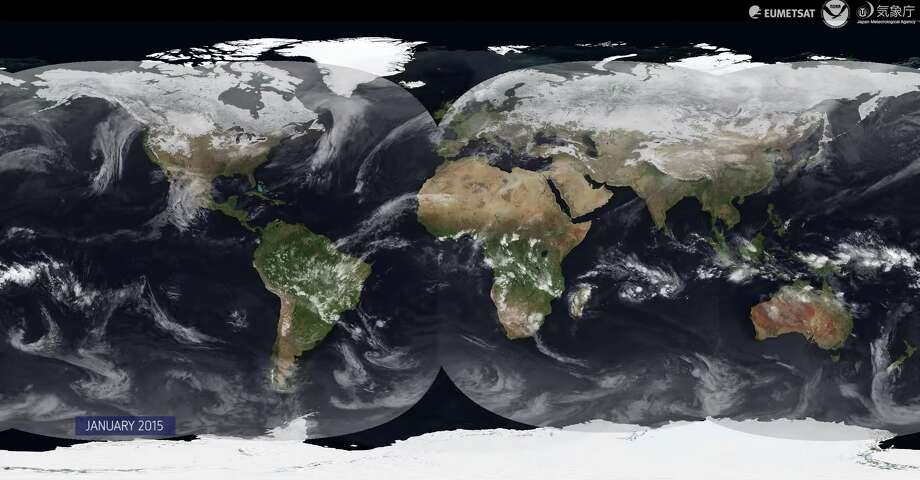 A video released by the European Organisation for the Exploitation of Meteorological Satellites shows weather patterns from throughout 2015. Photo: Video Screenshot