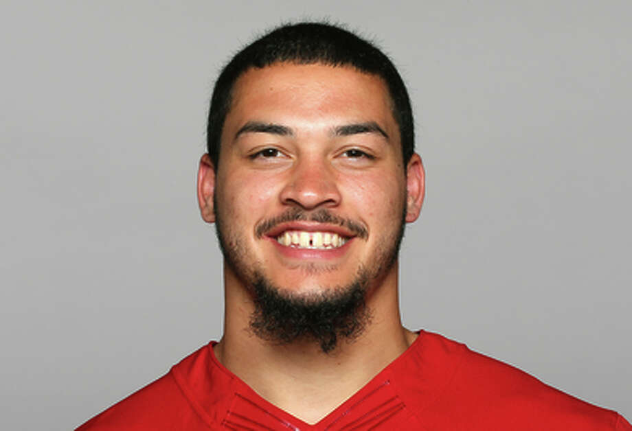 This is a 2014 photo of Aaron Lynch of the San Francisco 49ers NFL football team. This image reflects the San Francisco 49ers active roster as of Thursday, May 22, 2014 when this image was taken. (AP Photo) Photo: AP / NFLPV AP