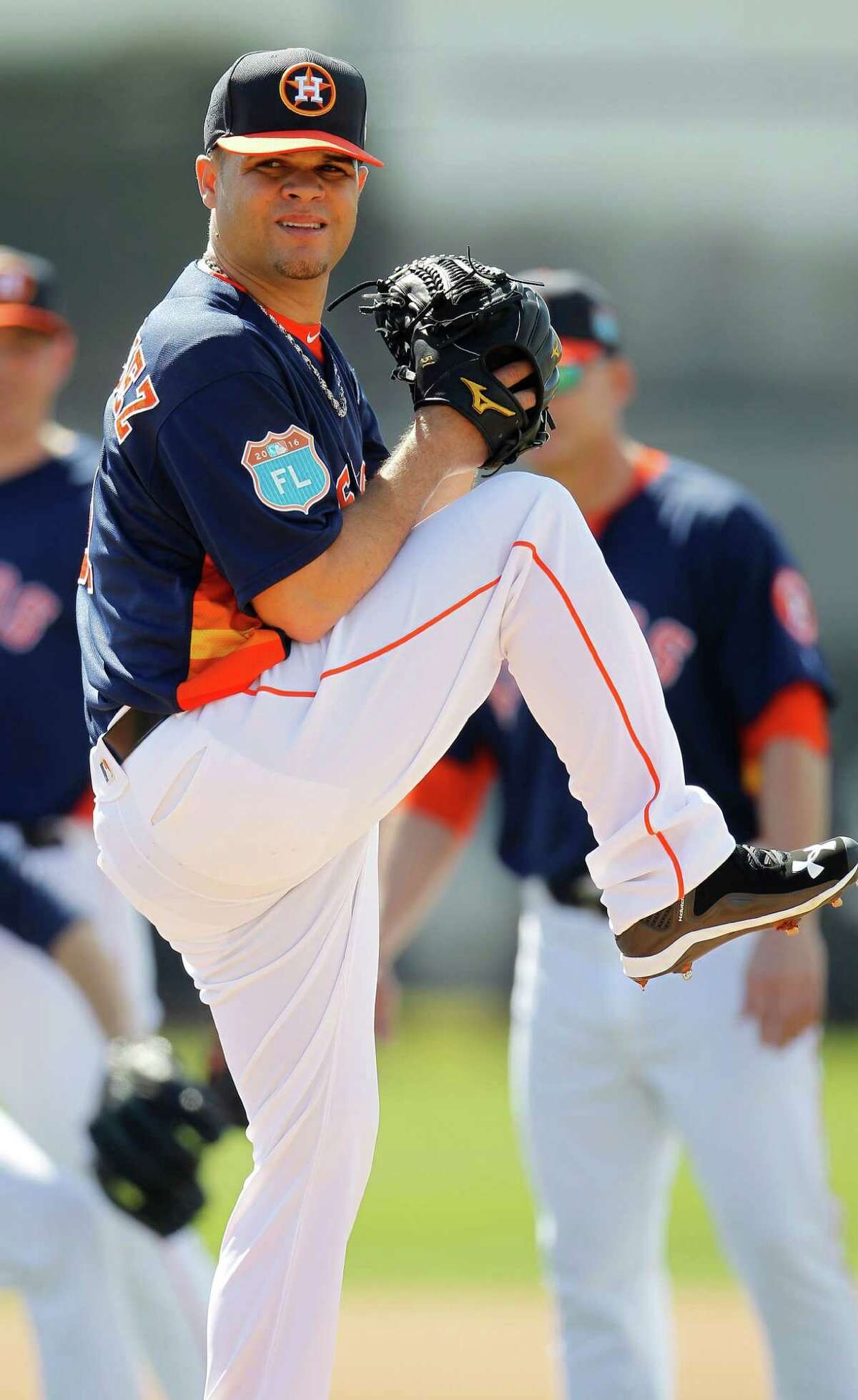 The Astros know they will get lefthander Wandy Rodriguez's best effort as he tries to make the team in spring training. He was with the Astros from 2005 until 2012.