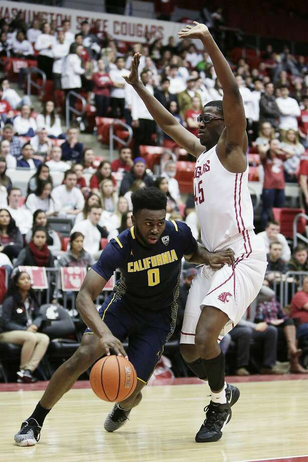 Cal's Jaylen Brown (0), who had eight points and six rebounds, drives on WSU's Valentine Izundu during the first half. Photo: Young Kwak, Associated Press