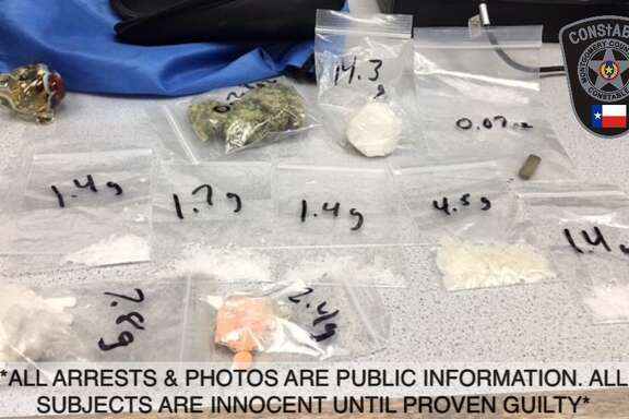 Methamphetamines and other drugs seized during a traffic stop Saturday in  Kingwood.