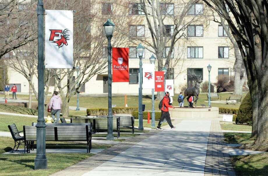 The Fairfield University campus on Monday. Photo: Cathy Zuraw / Hearst Connecticut Media / Connecticut Post