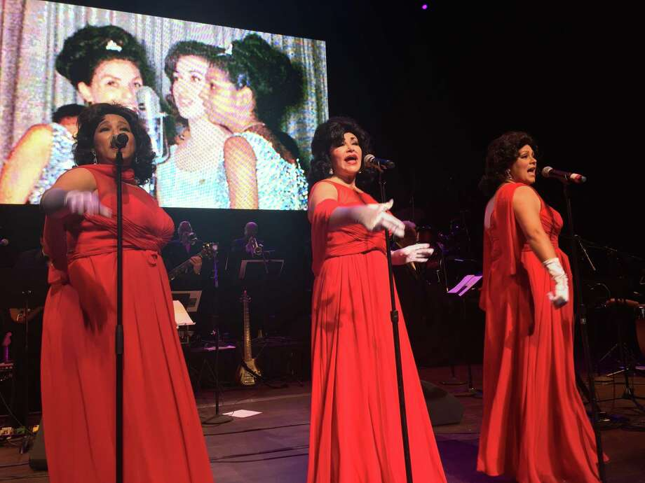 The Dreamliners tribute at the Patio Andaluz Reunion concert on Sunday featured Melba Marez (left), Patsy Torres and Rebecca Valadez. Photo: Hector Saldaña /Express-News Staff