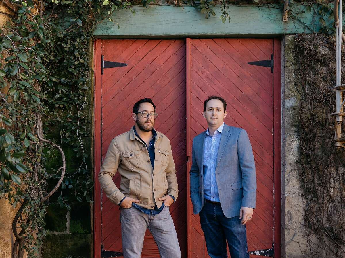 Christopher Kostow and Nathaniel Dorn at the old Tra Vigne site in St Helena, Calif., February 8, 2016.