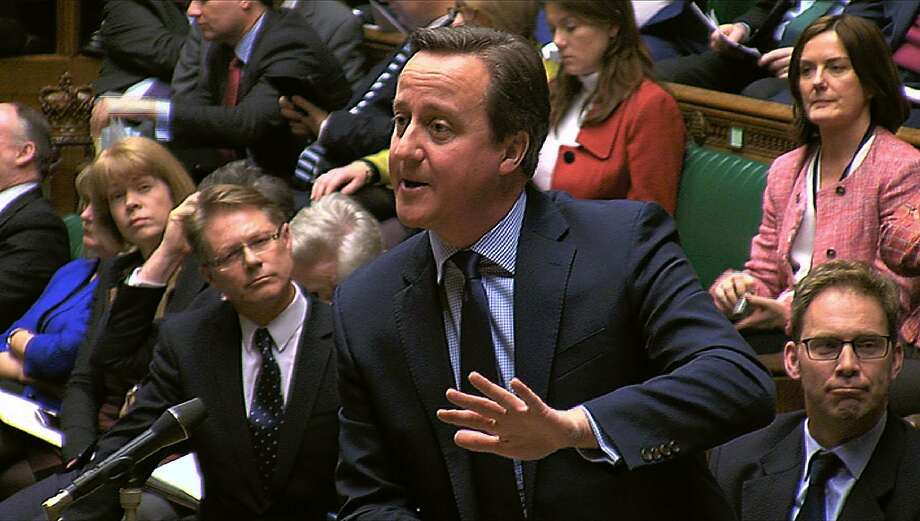 British Prime Minister David Cameron argues in favor of EU membership at the House of Commons. Photo: -, AFP / Getty Images