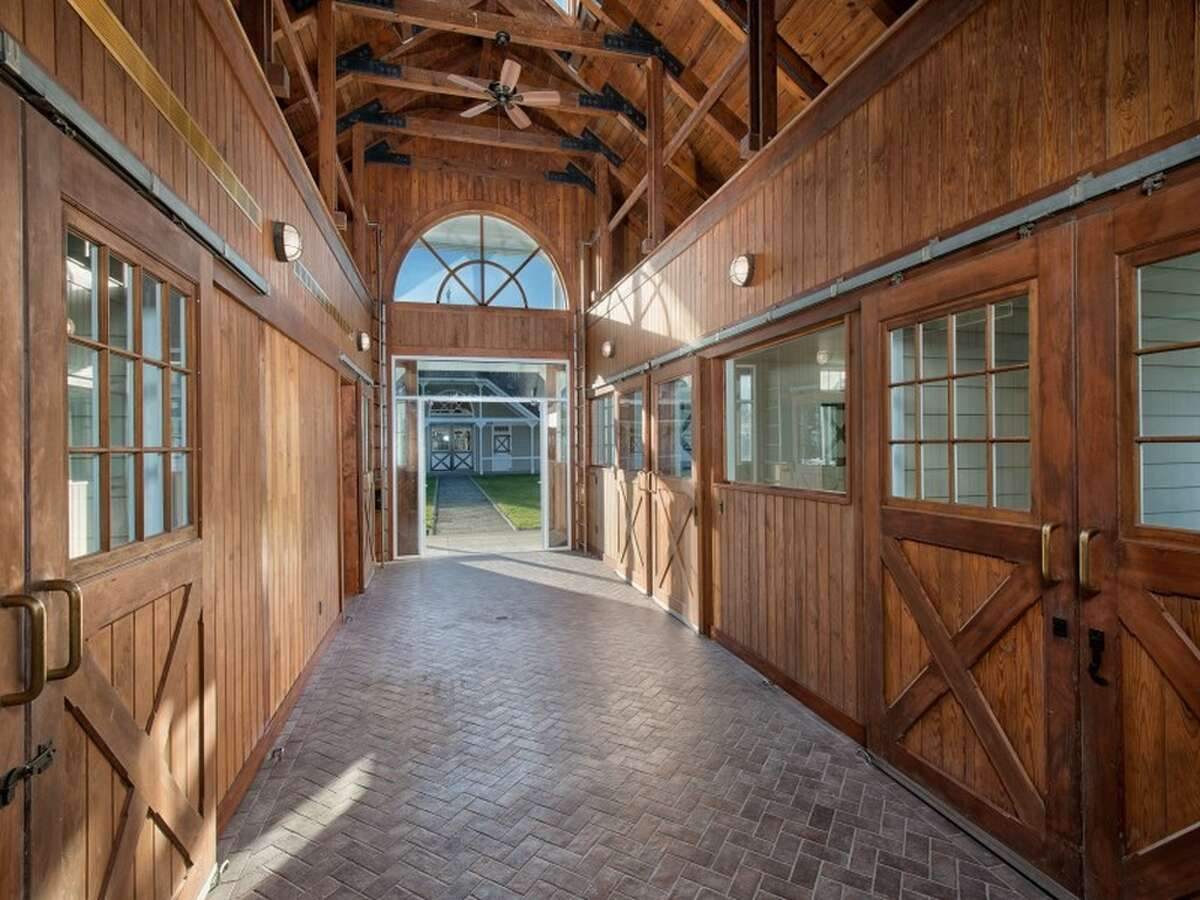 160 John St, Greenwich, CT (Oldfield Farm) Price: $21,500,000Features: Nine beds, 16 baths, horse facilities, stick and ball field, pool, tennis court, home theater, billiards lounge, home libraryView full listing on Zillow