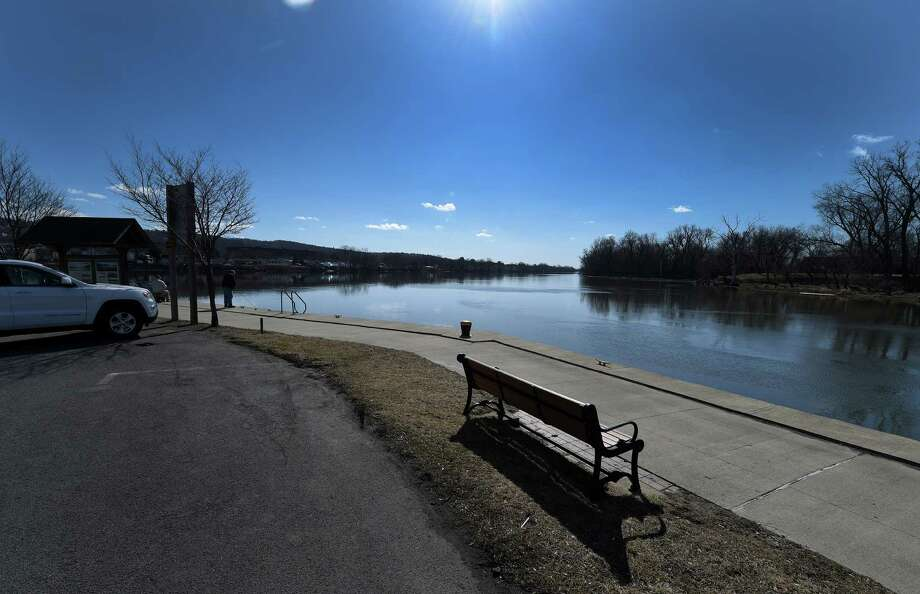 The Mohawk River looking west from the waterfront Monday Feb. 22, 2016 in Waterford, N.Y.     (Skip Dickstein/Times Union) Photo: SKIP DICKSTEIN / 10035530A