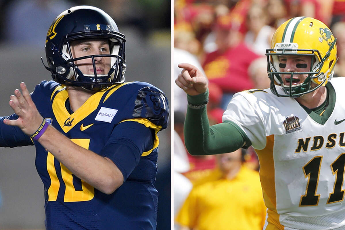 QBs Jared Goff (California), Carson Wentz (North Dakota St.) 2015 Stats (Goff): 341-of-529 passing, 4,719 yards, 43 touchdowns, 13 interceptions2015 Stats (Wentz): 130-of-208 passing, 1,651 yards, 17 touchdowns, 4 interceptions, 63 rushes, 294 yards, 6 touchdownsNotes: Goff and Wentz enter combine week in a neck-and-neck battle to be the top quarterback selected, but both have questions they need to answer. The prolific Goff played primarily in shotgun at Cal and will need to show he can play under center, while Wentz will be scrutinized for the level of competition he faced in FCS. If teams like what they see and hear, either could go as high as No. 2 to Cleveland.