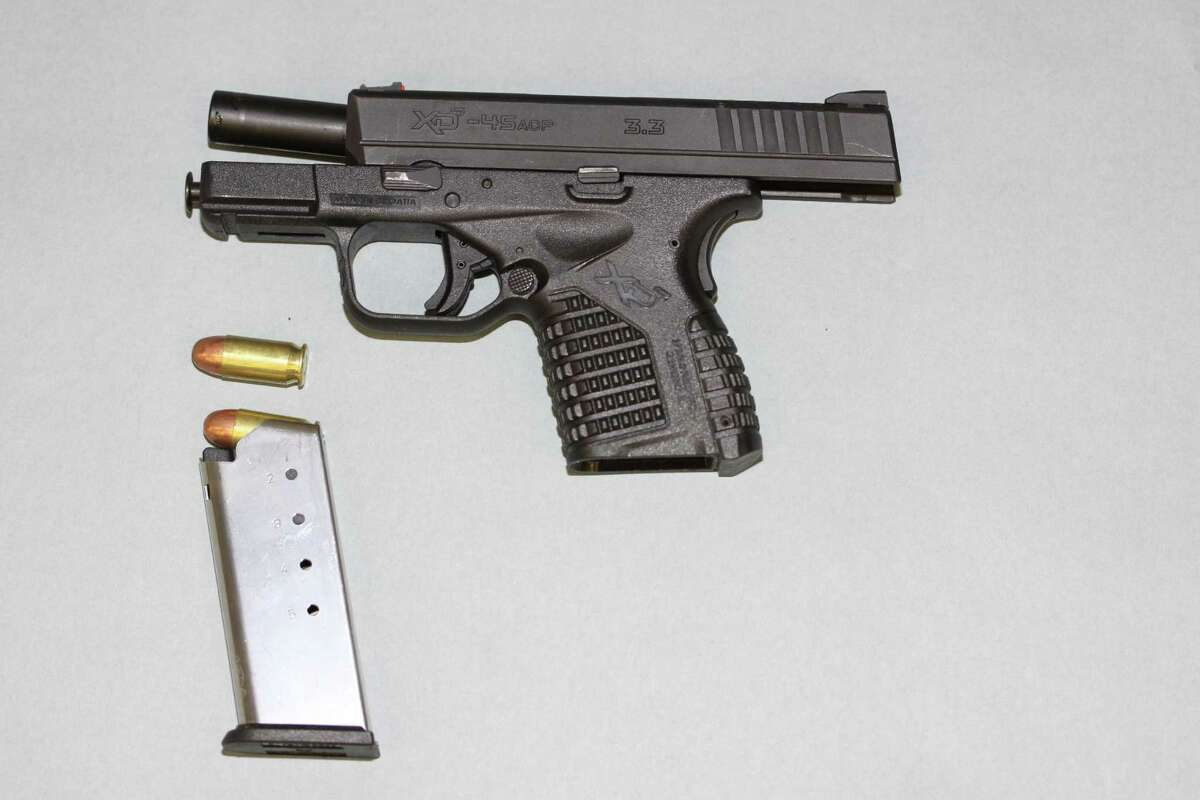 Seattle police say they recovered this firearm from Che Taylor after he was shot by police Sunday in Wedgwood.