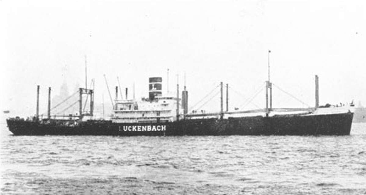 The S.S. Jacob Luckenbach before her collision with the Hawaiian Pilot in 1953.