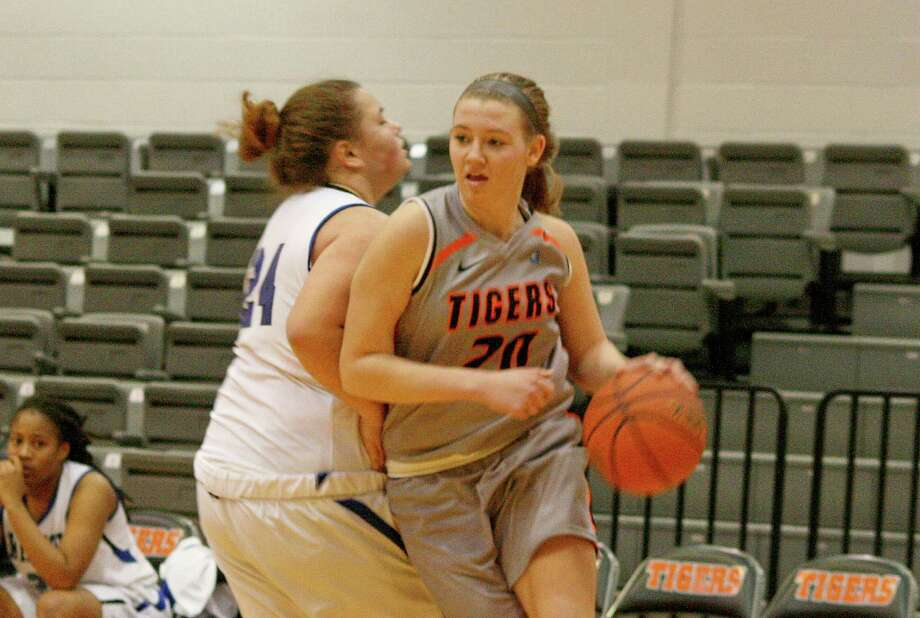 Ravena High graduate Shelby Preston, right, of the SUNY-Cobleskill women's basketball team. (SUNY-Cobleskill sports information) Photo: Unknown