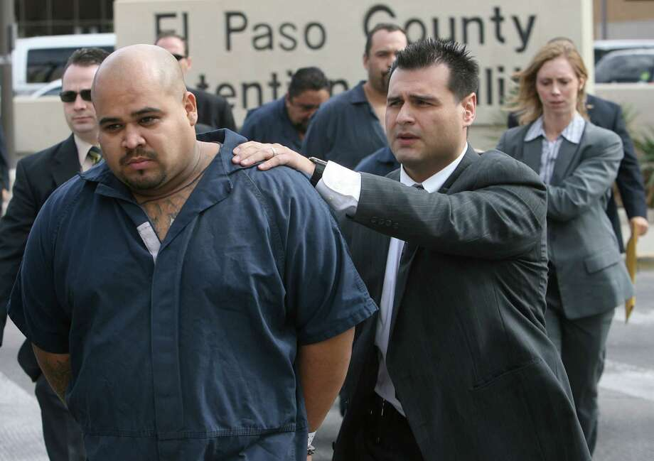 PHOTOS: Things to know about the return of Barrio Azteca as a major threat FBI Agents walk five members of the gang Barrio Azteca from the El Paso County Jail on Friday, Jan. 11, 2008, to the U.S. Federal Courthouse in El Paso, Texas. The group dropped off as a top gang threat in Texas around 2015 but has since made a resurgence. It has strengthened ties with Mexican drug cartels and expanded its areas of operation, according to a 2018 DPS gang threat assessment. >>> Five things to know about the gang  Photo: Mark Lambie, AP Photo/El Paso Times, Mark Lambie / 2008 AP