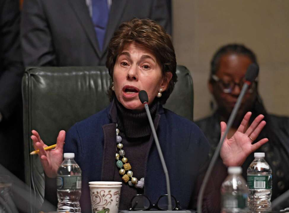 Chancellor Merryl H. Tisch conducts the New York State Board of Regents meeting Monday Feb. 22, 2016 in Albany, N.Y. (Skip Dickstein/Times Union)