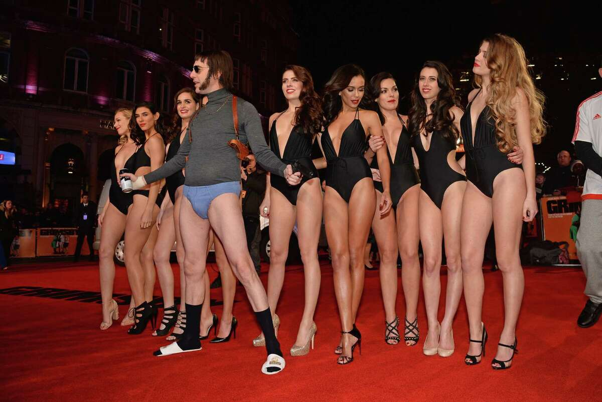 Sacha Baron Cohen and Grimsby girls attend the World premiere of