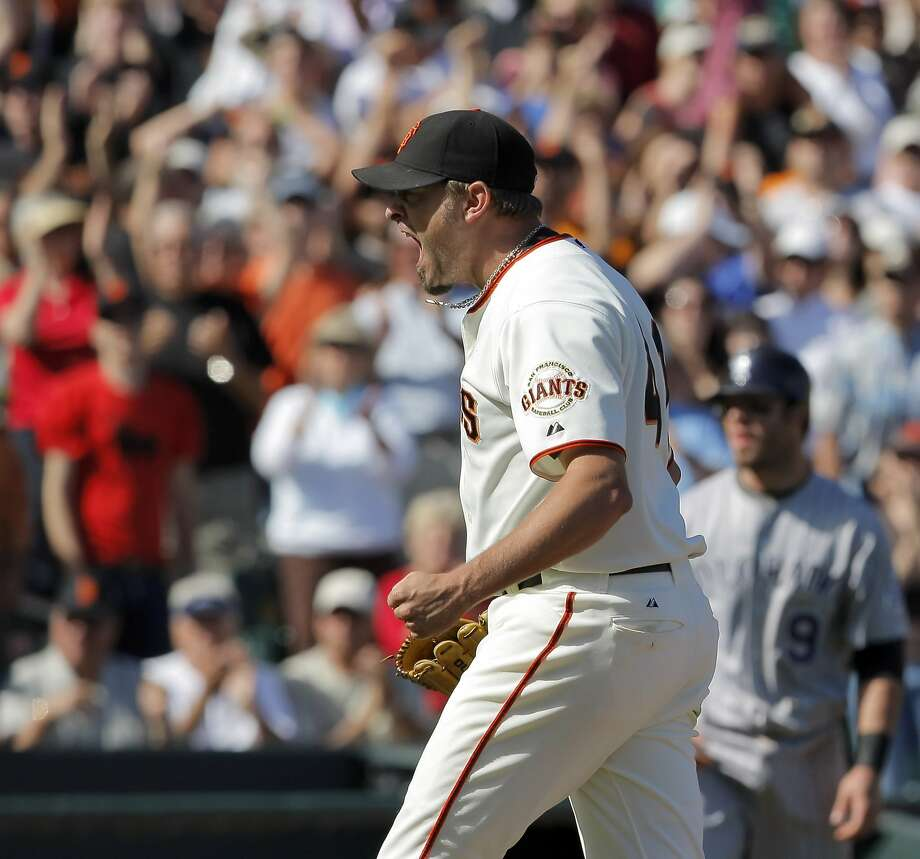 Jeremy Affeldt (pictured) has retired, and his bullpen mates Sergio Romo, Javier Lopez and Santiago Casilla are all in the final year of their contracts with the Giants. Photo: Carlos Avila Gonzalez, The Chronicle