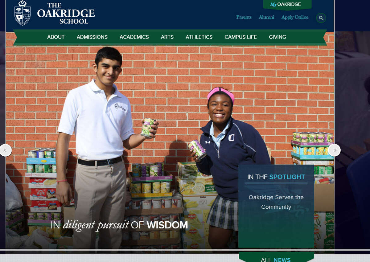 28. The Oakridge School City: Arlington Affiliation: None Students: 842 Percentage of seniors who attend a 4-year college: 100 percent Student culture and diversity: B+ Student-teacher ratio: 10:1