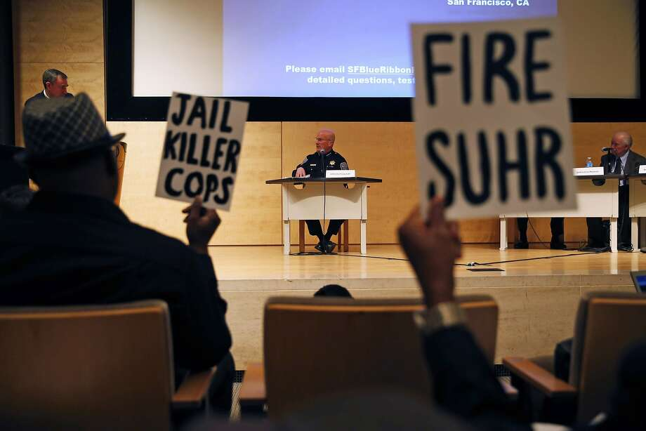 San Francisco Police Chief Greg Suhr testifies in front of Blue Ribbon Panel on Transparency, Accountability, and Fairness in Law Enforcement at SF Public Library in San Francisco, Calif., on Monday, February 22, 2016. Photo: Scott Strazzante, The Chronicle