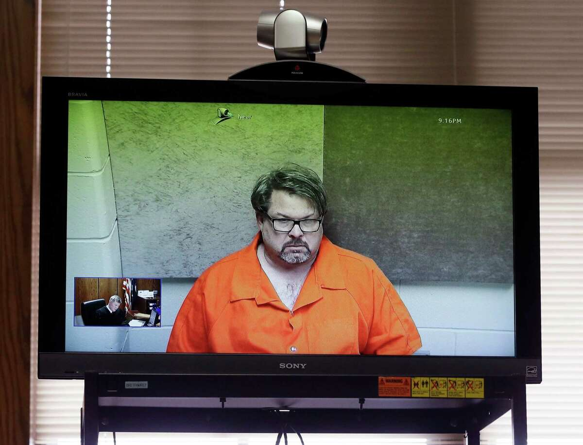 Uber driver Jason Dalton, of Kalamazoo Township, Mich., is arraigned Monday via video. Dalton is charged with multiple counts of murder in a series of random shootings in western Michigan.