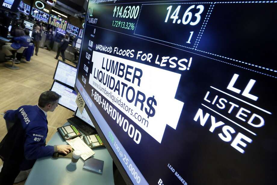 Lumber Liquidators was doing better on Feb. 1, when this was taken, that it did Monday. Photo: Richard Drew, Associated Press