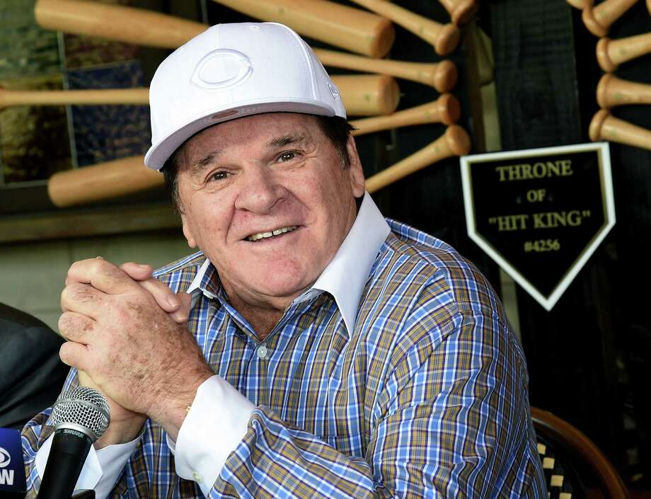 LAS VEGAS, NV - DECEMBER 15:  Former Major League Baseball player and manager Pete Rose speaks during a news conference at Pete Rose Bar & Grill to respond to his lifetime ban from MLB for gambling being upheld on December 15, 2015 in Las Vegas, Nevada. MLB Commissioner Rob Manfred on Monday announced that he was rejecting Rose's application for reinstatement.  (Photo by Ethan Miller/Getty Images) *** BESTPIX *** ORG XMIT: 596450851 Photo: Ethan Miller / 2015 Getty Images