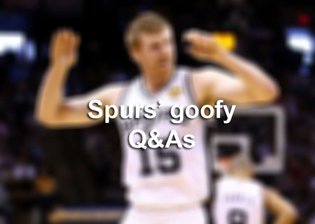 Spurs' and Spurs Celebs' goofy Q&As.