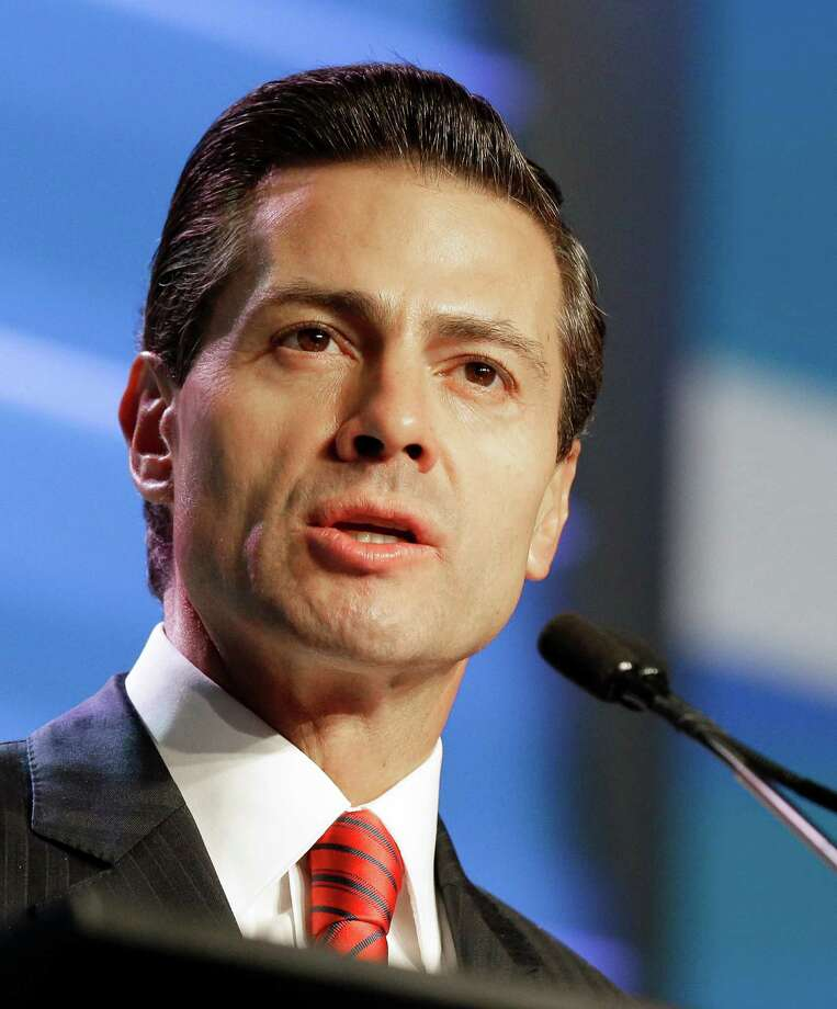 Mexican President Enrique Peña Nieto gives the opening address to attendees of the annual IHS CERAWeek global energy conference Monday, Feb. 22, 2016, in Houston. Photo: Pat Sullivan /AP