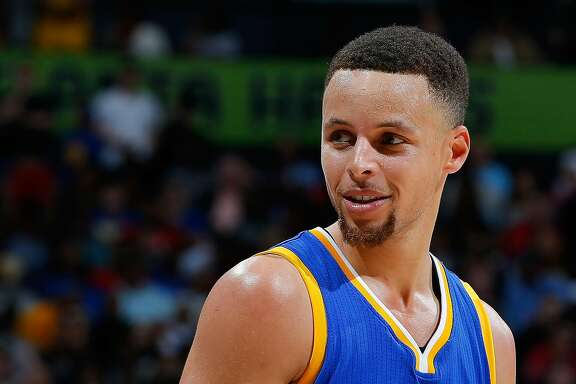 ATLANTA, GA - FEBRUARY 22:  Stephen Curry #30 of the Golden State Warriors reacts during the game against the Atlanta Hawks at Philips Arena on February 22, 2016 in Atlanta, Georgia.  NOTE TO USER User expressly acknowledges and agrees that, by downloading and or using this photograph, user is consenting to the terms and conditions of the Getty Images License Agreement.  (Photo by Kevin C. Cox/Getty Images)