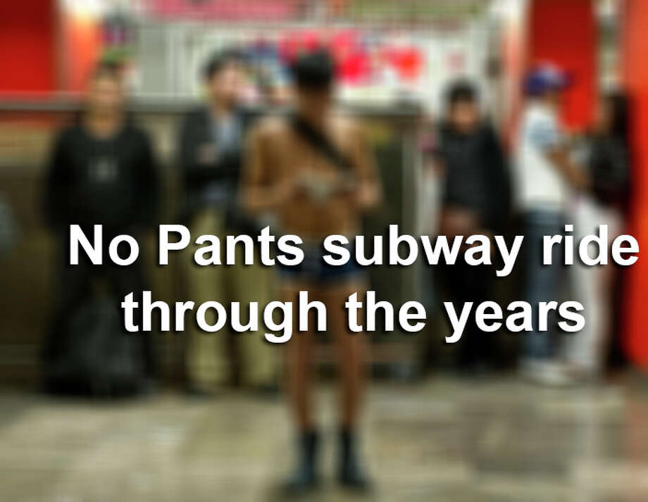 A look back at former years of the No Pants Subway Ride in Mexico City. / 2012 AFP