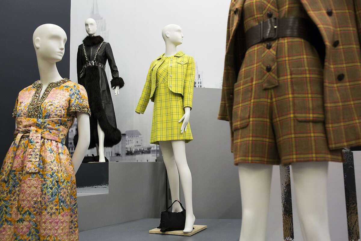 The early work of Oscar de la Renta, part of the retrospective curated by André Leon Talley, are pictured at the De Young Museum in San Francisco, Calif. on Monday, Feb. 22, 2016.