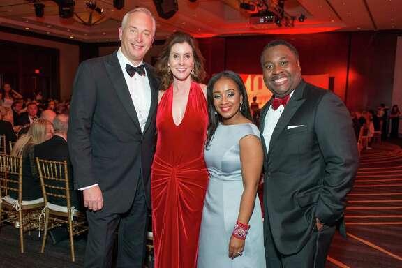 Bobby and Pheobe Tudor, Regina and Ronald Jackson American Red Cross 100 Years Gala at the Royal Sonesta Hotel