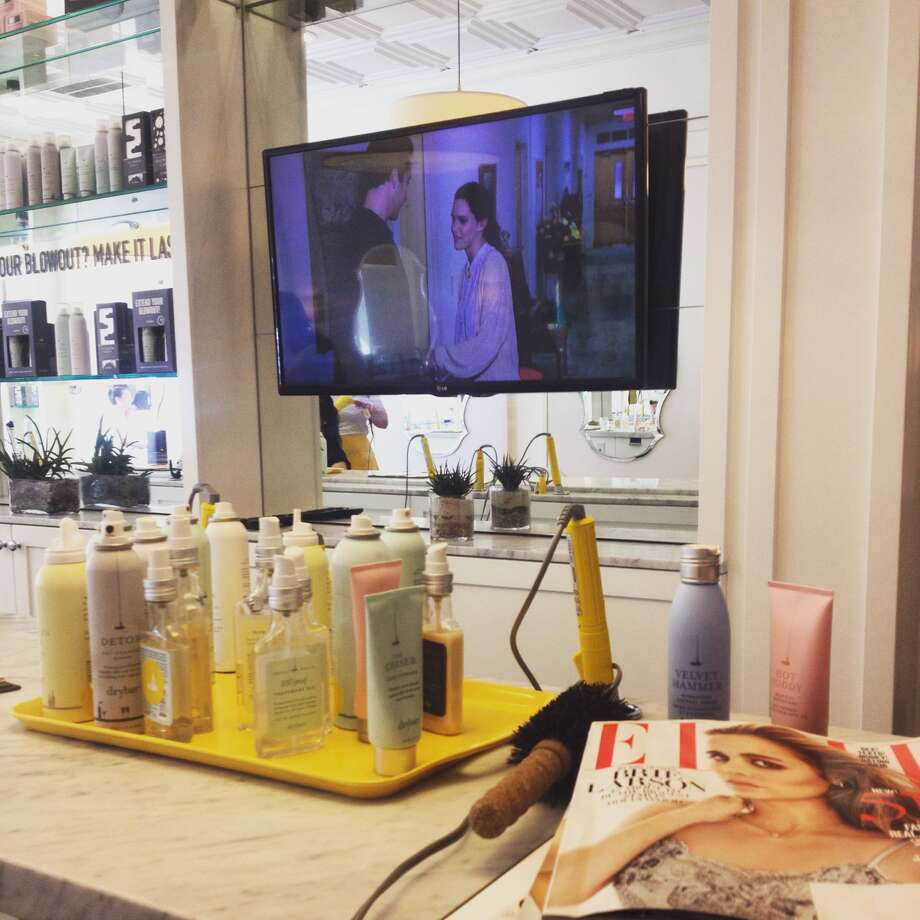 Most gala days start at my home away from home, Drybar Uptown Park. The magazine is for future gown inspiration.