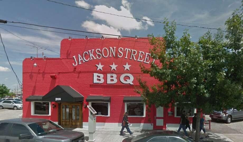 Jackson Street BBQ209 Jackson, Houston, Texas 77002  Demerits: 8  Inspection highlights: Condemned approximately 1200 lbs. of ice contaminated by slime.  Photo by: Google Maps