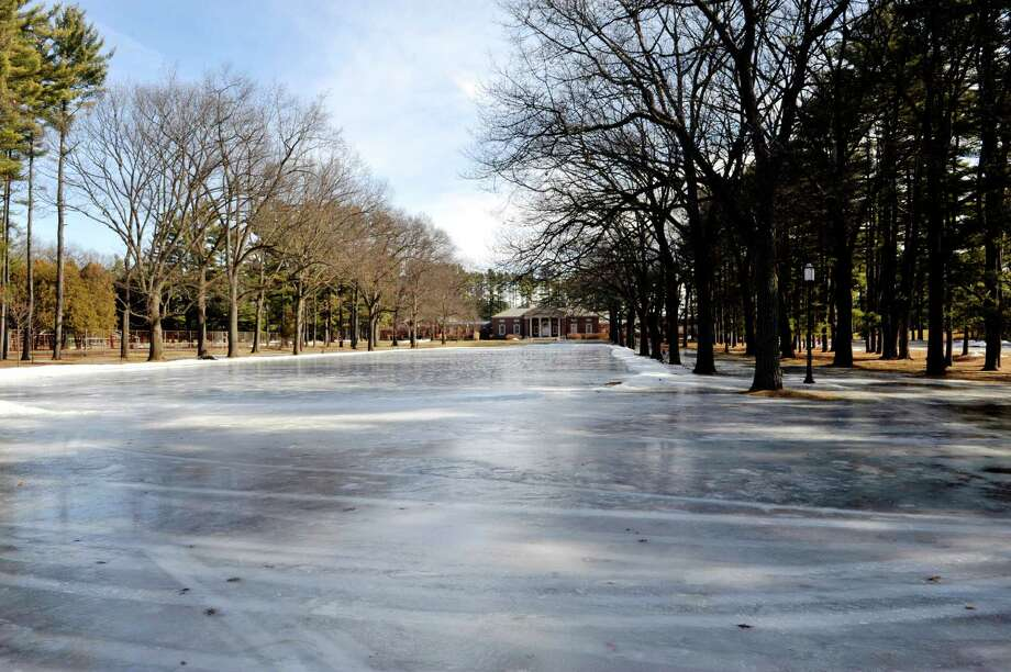A view of the skating area at Saratoga Spa State Park on Tuesday, Feb. 23, 2016, in Saratoga Springs, N.Y.  This winter's abnormally warm weather has caused organizers to canceled the 2016 Saratoga Frozen Springs Classic Pond Hockey tournament.    (Paul Buckowski / Times Union) Photo: PAUL BUCKOWSKI / 10035554A