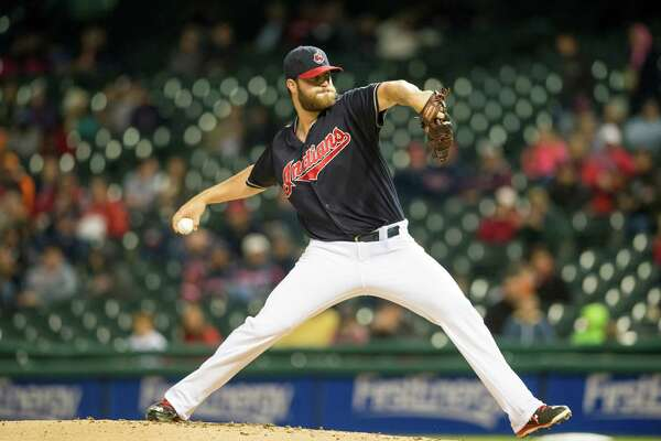 CLEVELAND, OH - SEPTEMBER 30: Starting pitcher Cody Anderson #56 of the Cleveland Indians pitches during the first inning against the Minnesota Twins at Progressive Field on September 30, 2015 in Cleveland, Ohio during game two of a doubleheader.