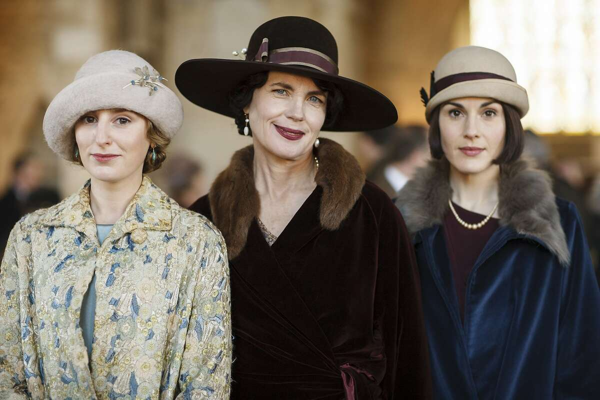 """Laura Carmichael as Lady Edith Crawley, Elizabeth McGovern as Cora, Countess of Grantham, and Michelle Dockery as Lady Mary Crawley in the sixth and final season of """"Downton Abbey."""" (Nick Briggs/Carnival Film & Television/TNS)"""