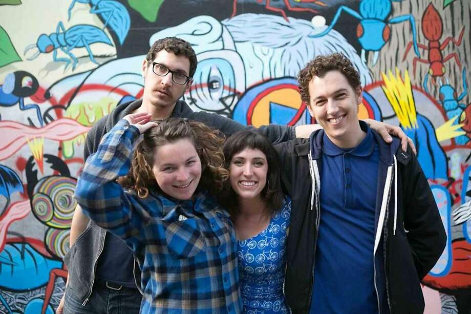 Mission Position comedy night at Lost Weekend Video is hosted by local comedians. Shown here: Matt Lieb, Jessica Sele, Kate Willett and Trevor Hill. Photo: Courtesy Mission Position Comedy
