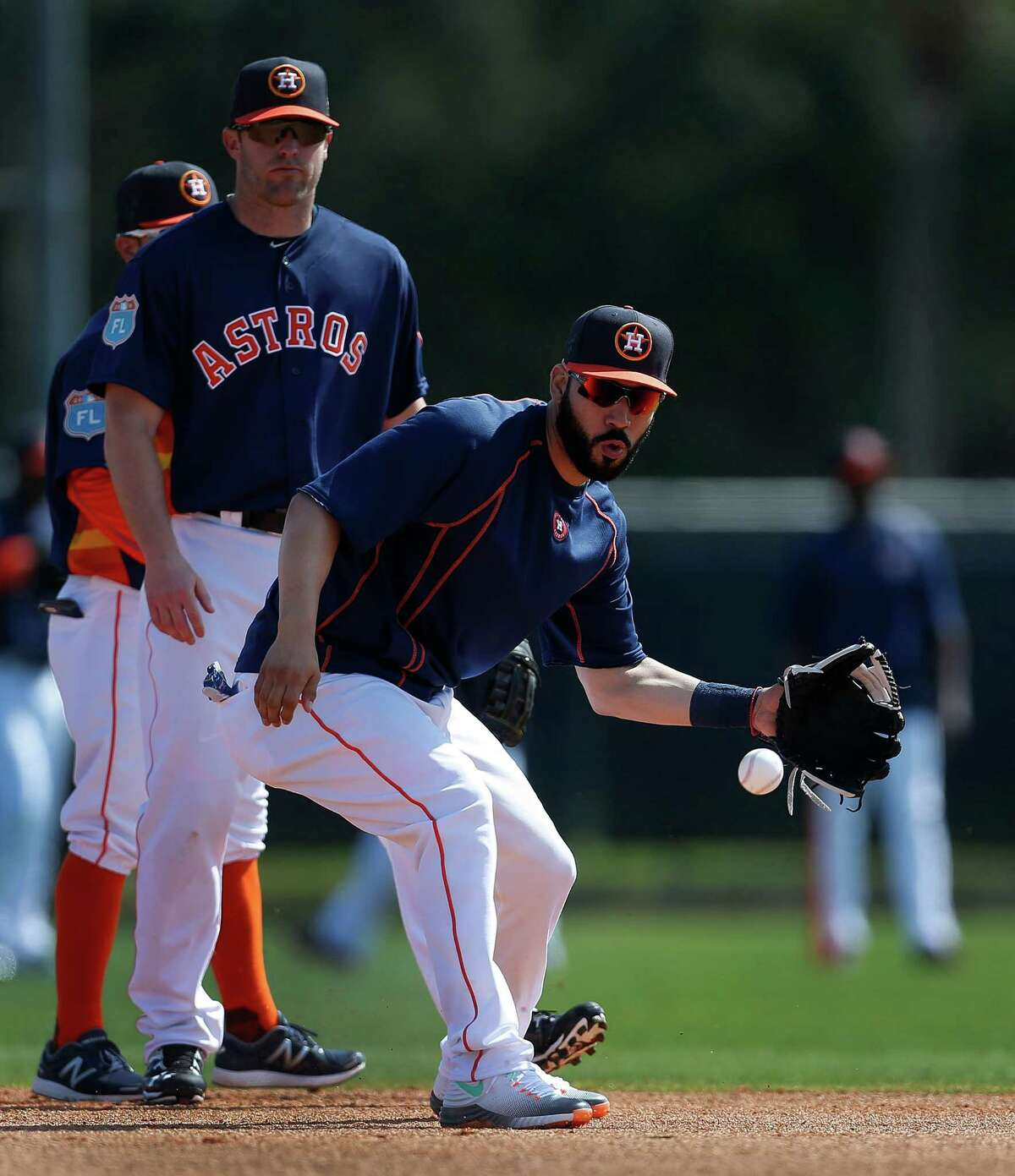 Marwin Gonzalez will get the start at first base Tuesday when the Astros open the season against the Yankees in New York.