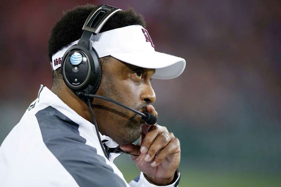 Head coach Kevin Sumlin of the Texas A&M Aggies looks on against the Louisville Cardinals in the first half of the Music City Bowl at Nissan Stadium on Dec. 30, 2015 in Nashville, Tennessee. Photo: Joe Robbins /Getty Images / 2015 Getty Images