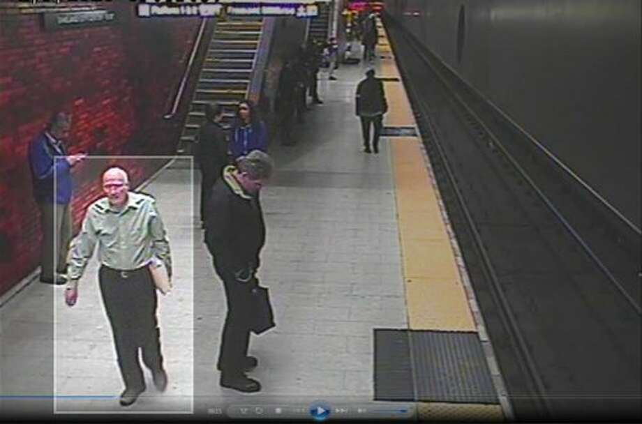 The family of missing Alameda resident John Beck released this BART surveillance photo, saying it shows Beck preparing to board a train at the 12th Street station in downtown Oakland on Feb. 9, 2016. Photo: Handout