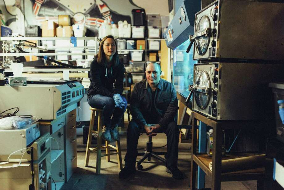 Anna Tong and Anthony Di Franco are trying to find a way to produce insulin at home. Photo: PETER EARL MCCOLLOUGH, STR / NYTNS