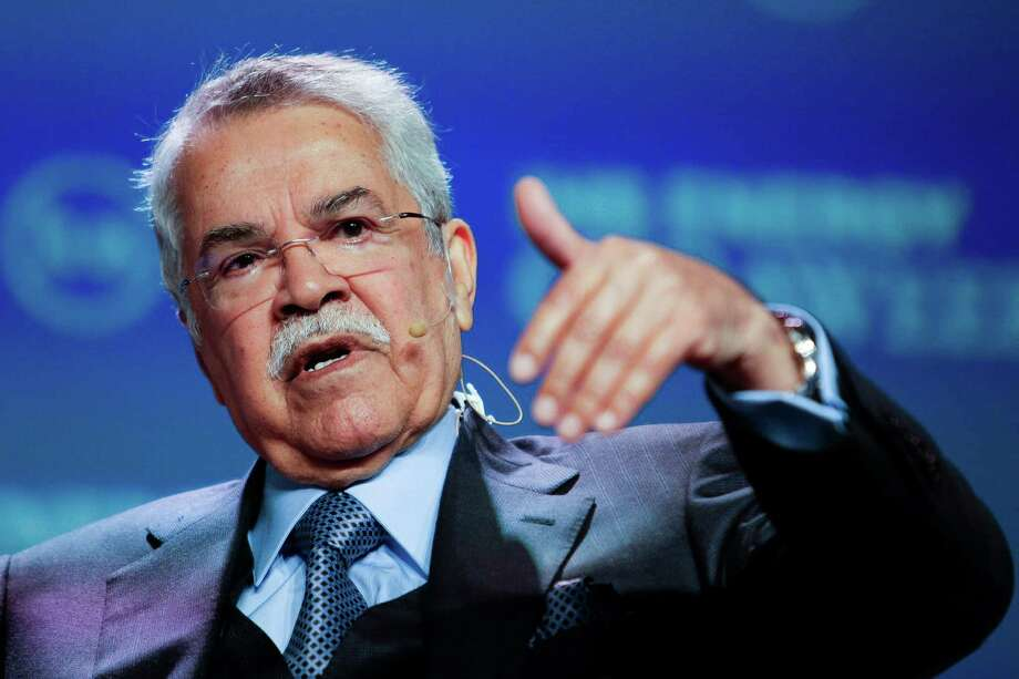 Saudi Arabian Oil Minister Ali Al-Naimi speaks this year in Houston. Saudi Arabia and Russia reportedly are working on an agreement to cut oil production.  Photo: Michael Ciaglo, Staff / © 2016  Houston Chronicle