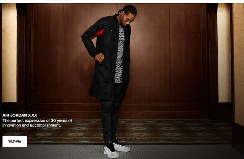 88cd4882b0aa0a Kawhi Leonard models new Jordan Brand clothing line - San Antonio ...