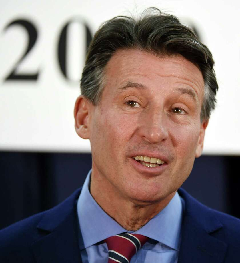 British Olympic Association chairman Sebastian Coe poses at a photo session after a signing ceremony for the British team's Tokyo 2020 Olympic games preparation camp in Tokyo on February 8, 2016.  Beleaguered world athletics boss Coe admitted on February 8 there would be no quick fix as he battles to restore public trust in the crisis-hit sport.      AFP PHOTO / TOSHIFUMI KITAMURATOSHIFUMI KITAMURA/AFP/Getty Images Photo: TOSHIFUMI KITAMURA / AFP